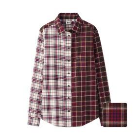 Camisa em flanela de algodão, Uniqlo